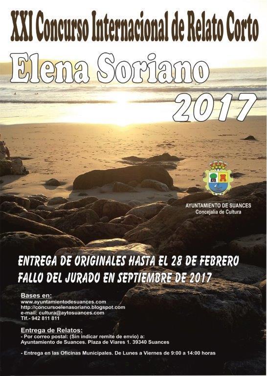 """XXI Concurso Internacional de Relato Corto """"Elena Soriano"""""""