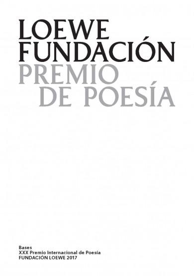 XXX Premio Internacional de Poesía FUNDACIÓN LOEWE